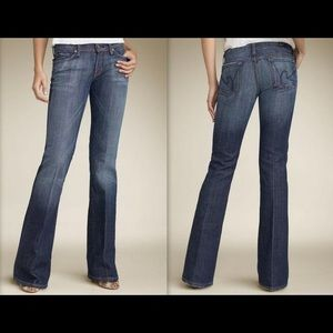 Citizens of Humanity low rise flare jeans.